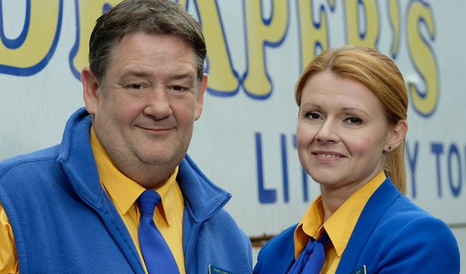 Murder On The Blackpool Express - the sequel | Johnny Vegas and Sian Gibson to star in Death On The Tyne