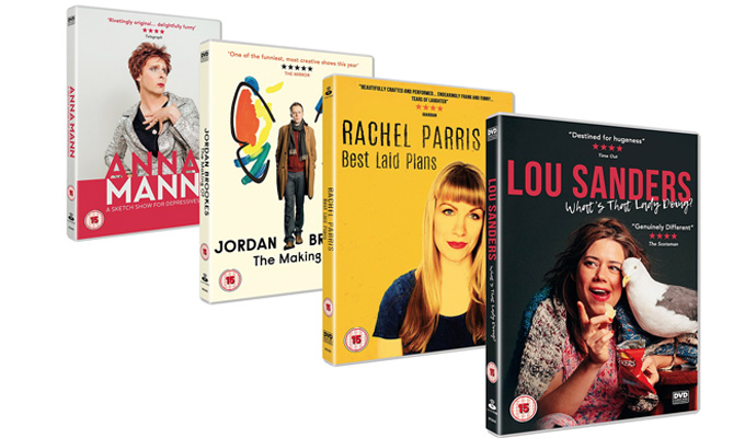 NextUp specials released on DVD | Titles from Colin Hoult, Jordan Brookes, Rachel Parris and Lou Sanders
