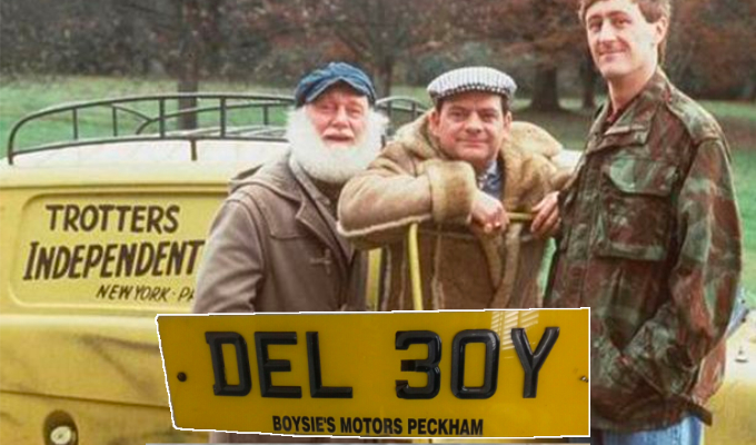 A licence to print money? | Del Boy plates on sale for £30k