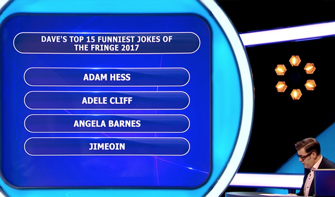 A Pointless trophy? | Britons couldn't name many of the Joke Of The Fringe comics