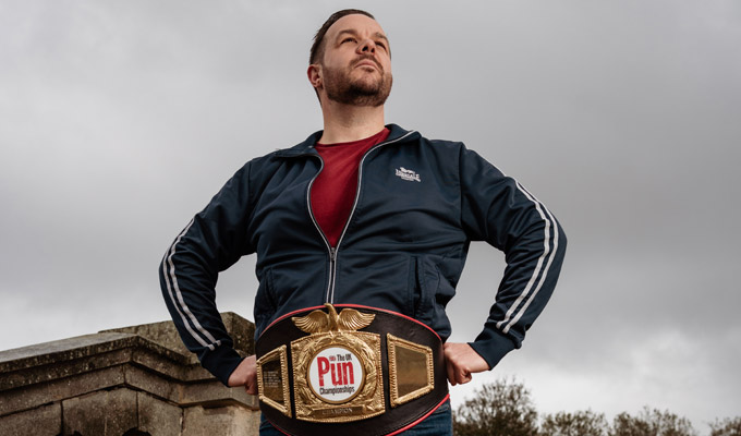 Pun award will go to waist! | Wordplay champion donates a belt for future winners