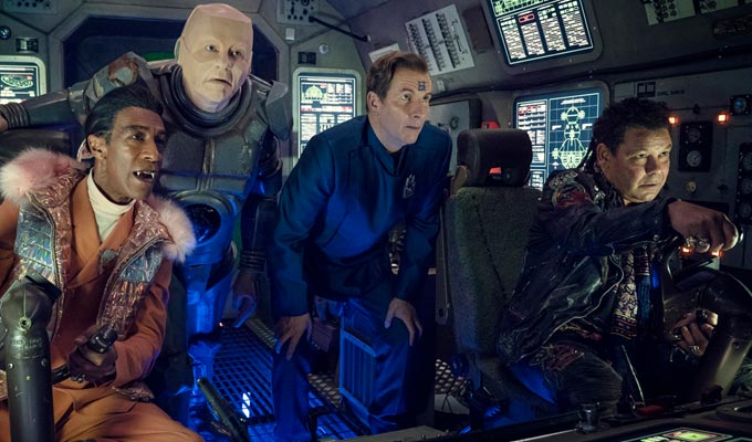 Dwarfing all the other shows... | Red Dwarf is UKTV's most-watched programme in lockdown