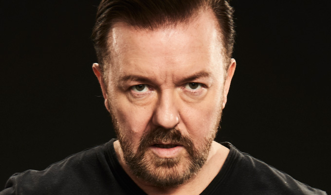 Ricky Gervais announces his first SuperNature gigs | But warns the works in progress will be a 'shambles'