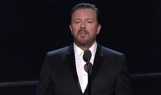 'Drunk' Ricky Gervais collects Bafta award | Watch his speech in Los Angeles