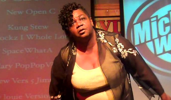 'I can't believe my black ass just fell off stage' | Watch as comic takes a tumble...