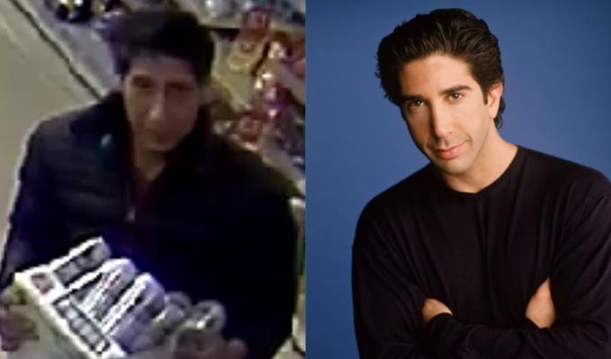 Police nab their Ross Geller lookalike | ...and it's not David Schwimmer