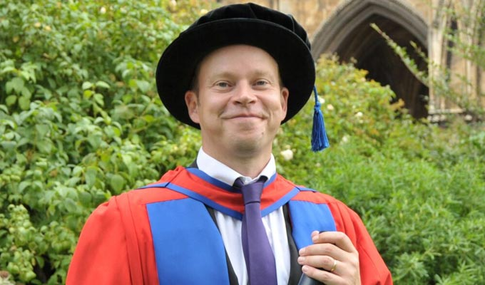 Call him Dr Robert Webb | Peep Show star picks up an honorary doctorate