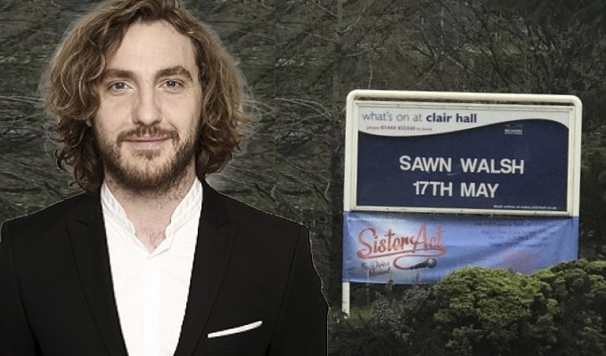 Seann Walsh goes through another bad spell | ...thanks to this tour venue