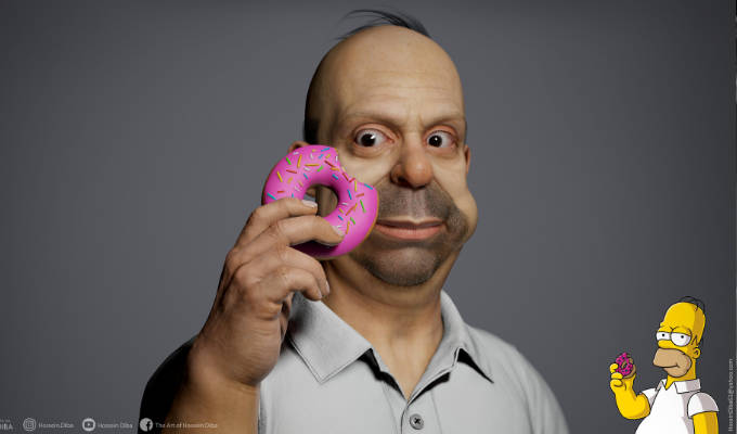 The Simpsons as they might really look | 3D modelling shows their weird features