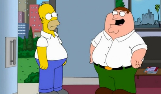 Family Guy meets The Simpsons | Watch 7 clips