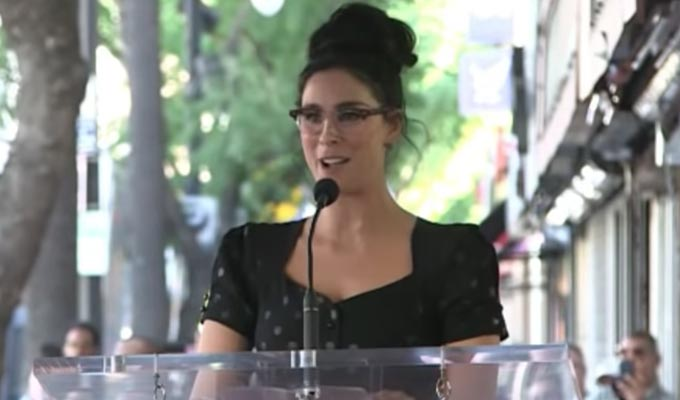 Sarah Silverman gets a star on the Hollywood Walk of Fame | ...and she makes a dark jokes about it