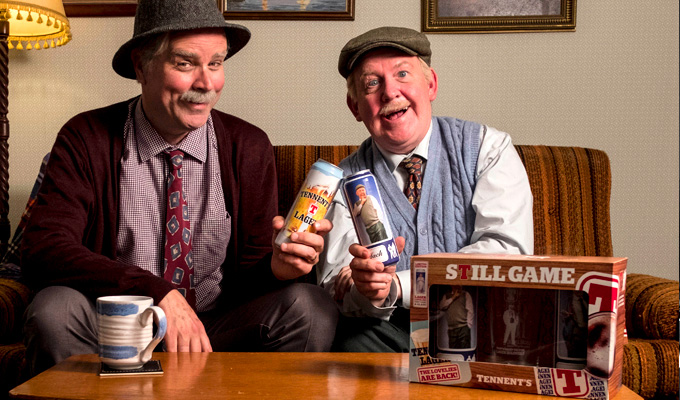 Jack and Victor, the new 'Lager Lovelies' | Still Game duo now on beer cans