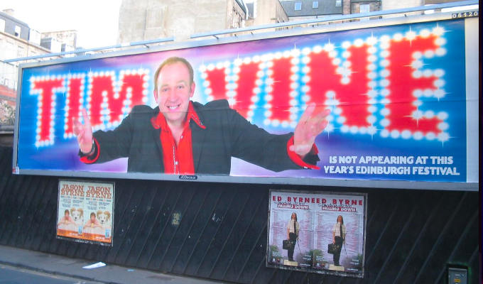 Tim Vine wins Edinburgh... by giving it a miss : Features 2020 :     Chortle : The UK Comedy Guide