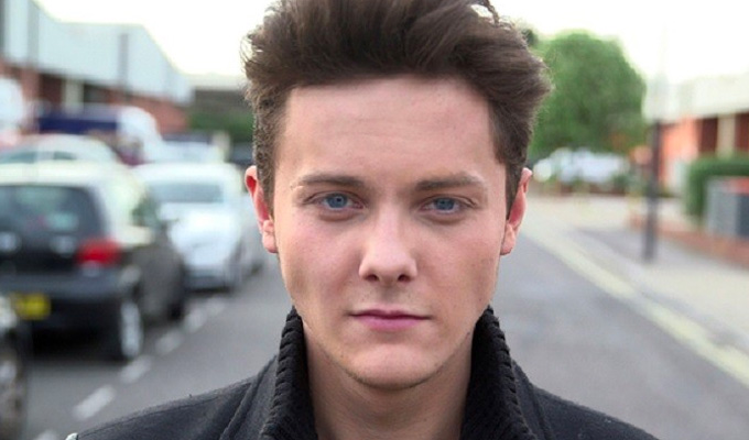 It's a fairway from Outnumbered... | Tyger Drew-Honey is working in a golf shop