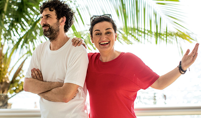 Trouble in paradise? | Mark Watson and Zoe Lyons holiday together for Sky short