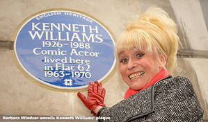 A little bit of blue... | Which comedians have been honoured with plaques © English Heritage