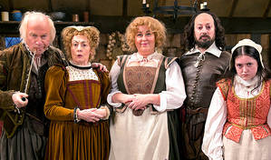 Ben Elton takes a pop at Ricky Gervais | In his new Shakespeare sitcom Upstart Crow © BBC/Colin Hutton