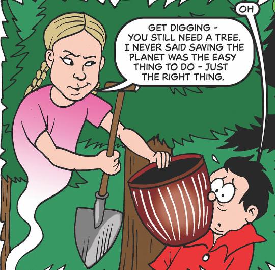 Greta cartoon