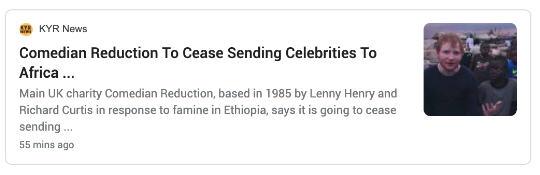 Comedian Reduction headline