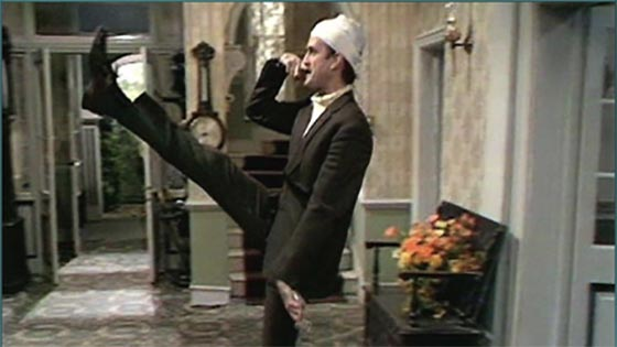 fawlty goosestepping