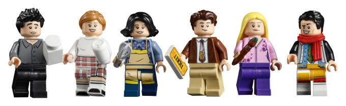 Friends characters in lego