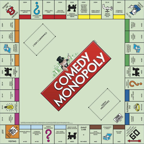Comedy Monopoly board
