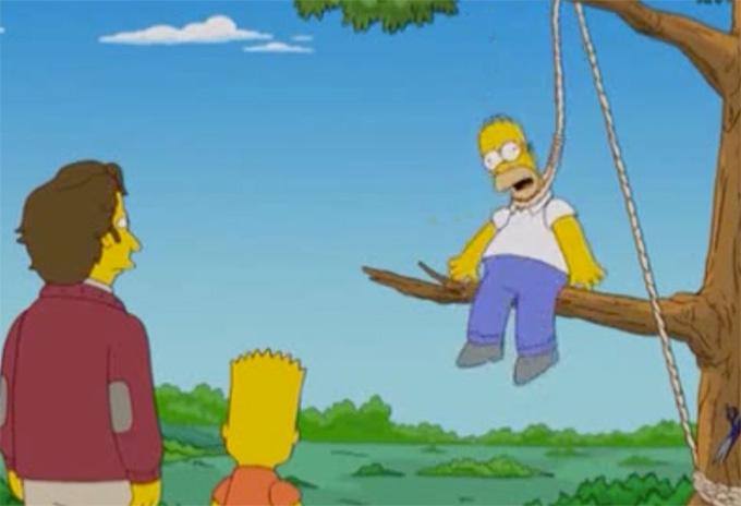 Homer Simpson noose