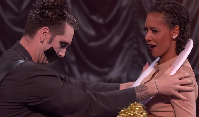 Tape Face puts Mel B in toilet on America's Got Talent Finals